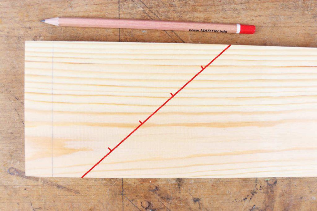 Fingerzinken Diagonale Streckenteilung anzeichenn