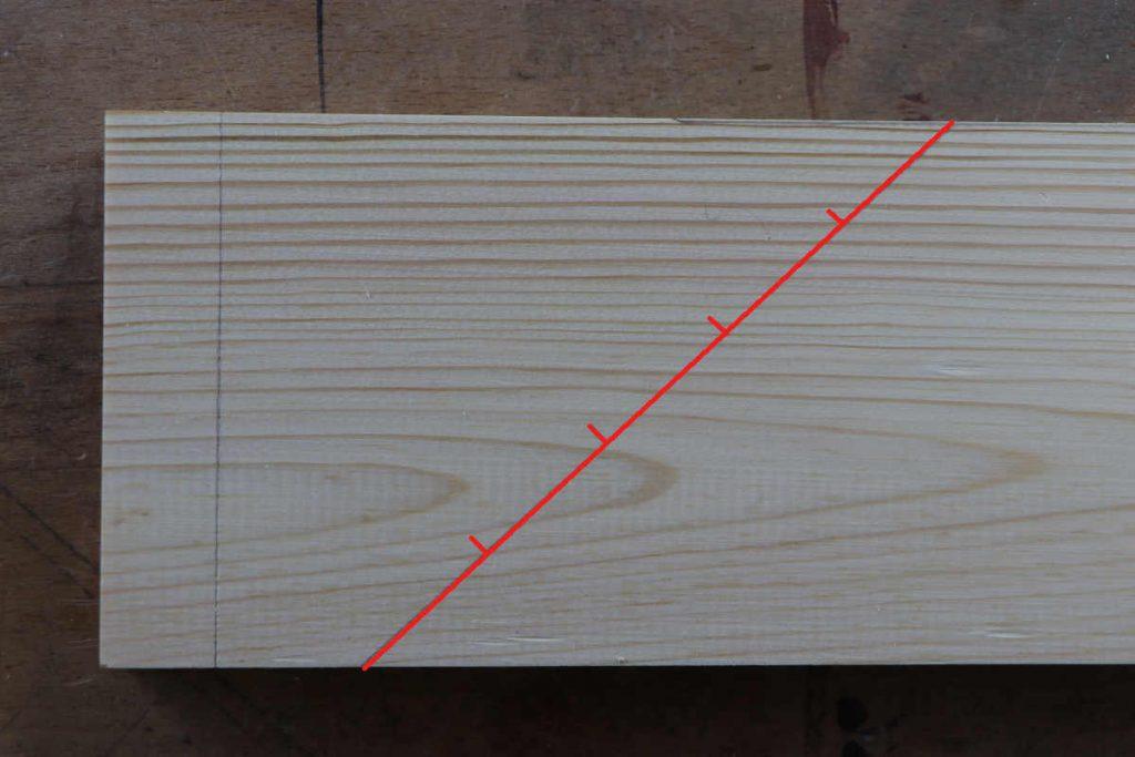 Fingerzapfen Streckenteilung Diagonale anreissen
