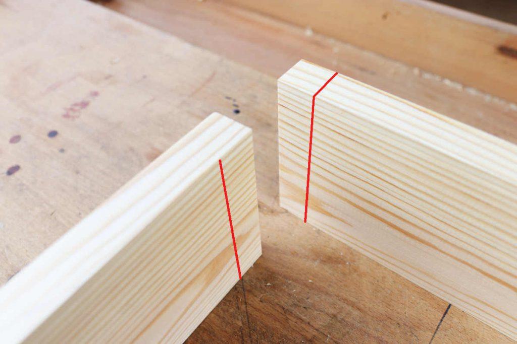 Fingerzinken Holzstärke anzeichnen mit Streichmaß