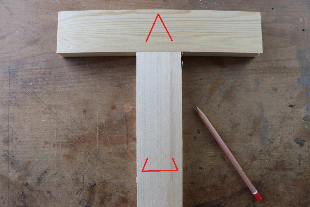 gestemmter Zapfen Holzverbindung Schreiner