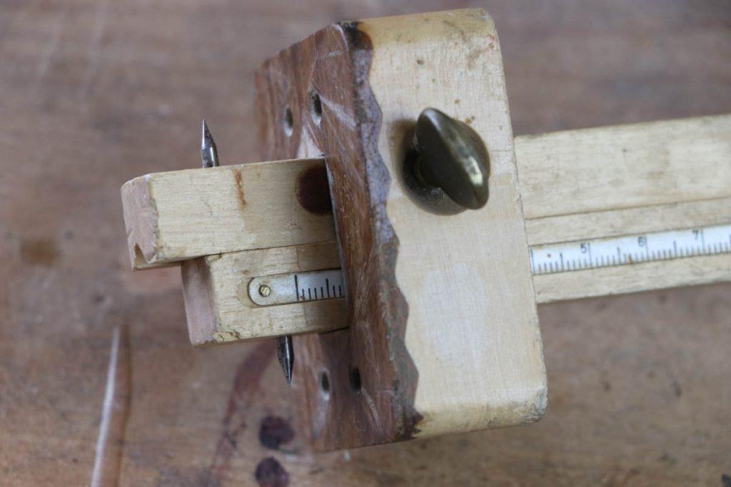 gestemmter Zapfen Holzverbindung Streichmaß Ulmia