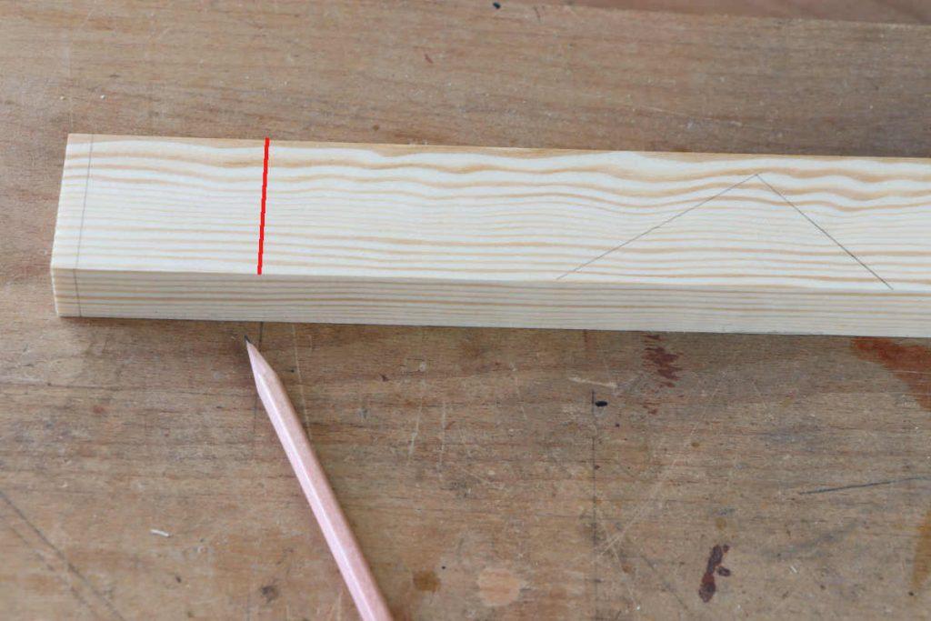 Schlitz und Zapfen mit Falz Lichtriss anzeichnen