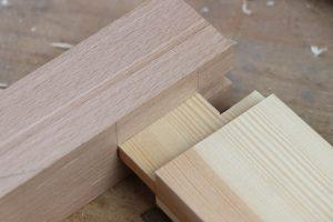 Nutzapfen herstellen Stolleneckverbindung Holzerbindung Schreiner Tischler Holz