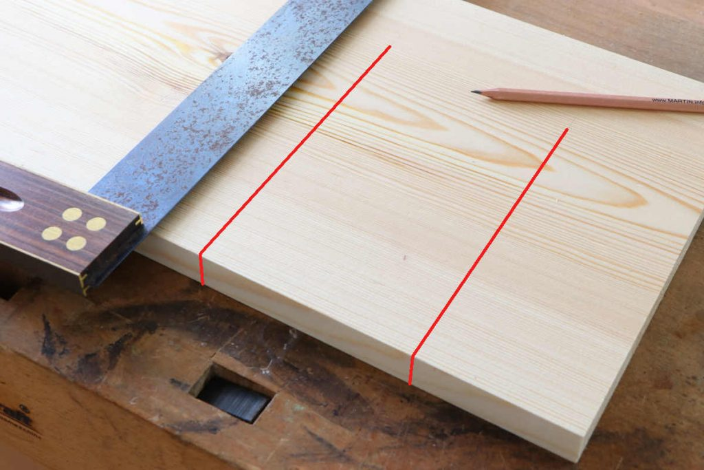 LOch stemmen Risse überwinkeln Winkel Bleistift anreißen