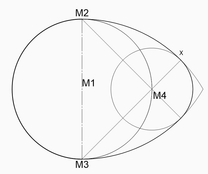 Eirund zeichnen konstruieren CAD zeichnen technisch zeichnen grundkonstruktion