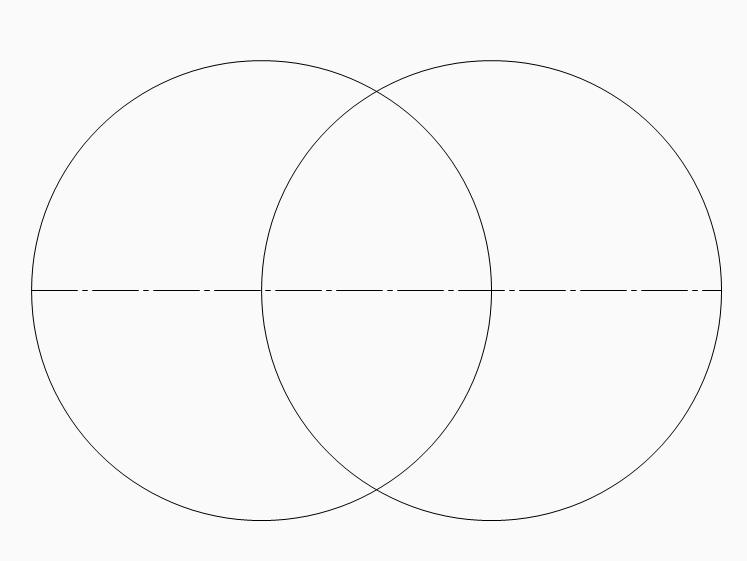 Oval zeichnen 2 Kreise konstruieren Ellipse Zirkel