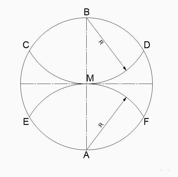 Sechseck zeichnen konstruieren magisches Sechseck Holz sechseckig Zirkel