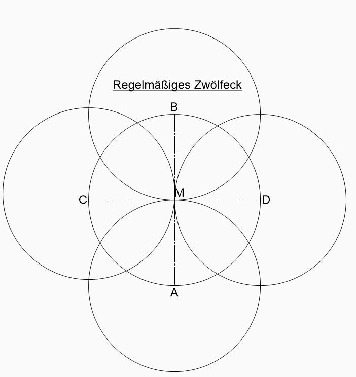 zwölfeck konstruieren zeichnen
