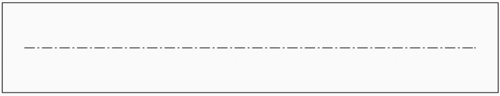 Technisch zeichnen Strichpunktlinie Schmal Grundlagen