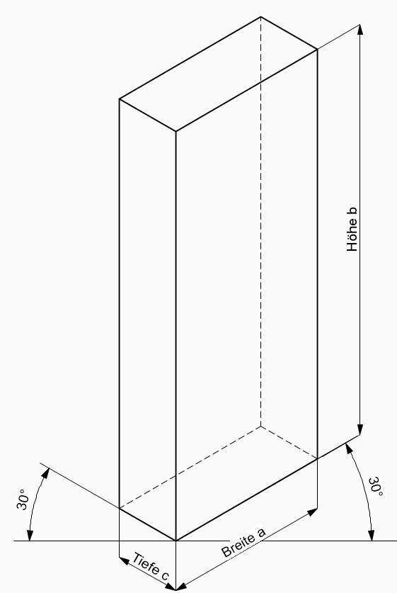 Isometrie Perspektive Zeichnung Übungen