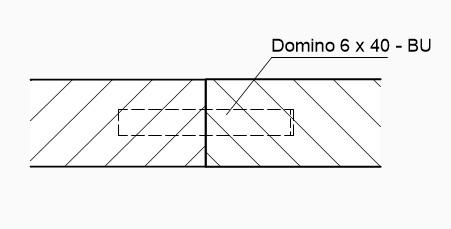 Technische Zeichnung domino darstellung