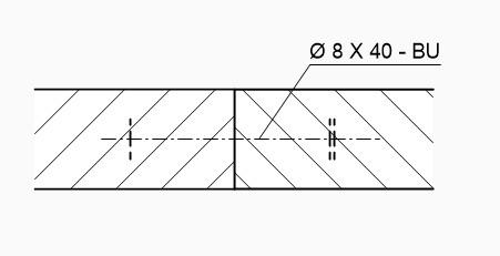 technisch zeichnung Dübel vereinfachte Darstellung