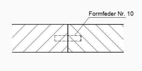 Technisch Zeichnen Lamello Formfeder